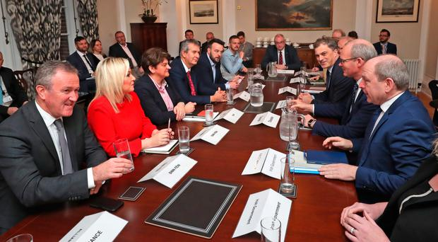 A roundtable meeting at Stormont yesterday aimed at breaking the deadlock