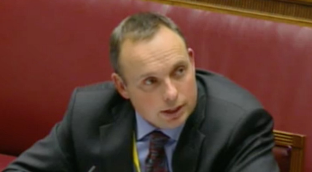 Dr Andrew Crawford at the RHI Inquiry yesterday