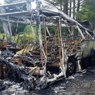 The gutted bus in Dervock