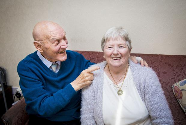 Albert and Elaine Magill who celebrated 70 years of marriage on Sunday