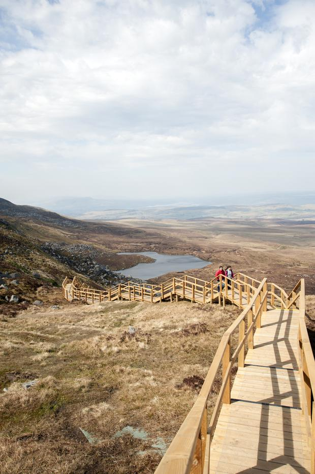 Tough challenge: the number of visitors to Cuilcagh is on the increase