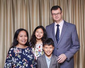 Dr Paul Ferguson, wife Cheryl and their two children