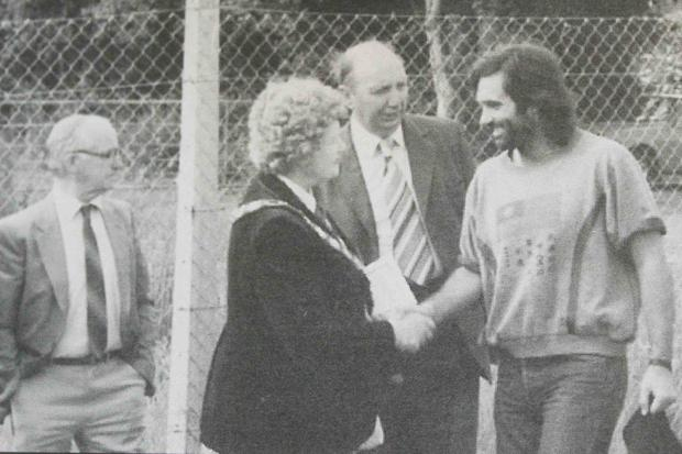 Molly meets soccer star George Best