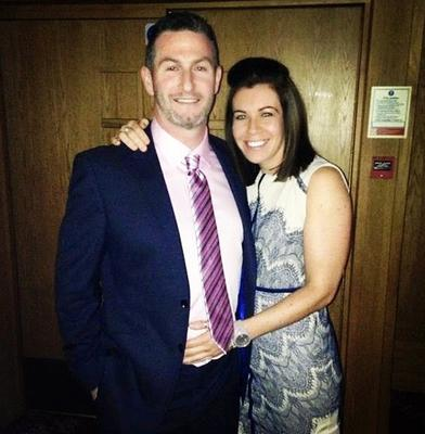 Police officer Clodagh Dunlop and partner Adrian before she suffered a massive stroke