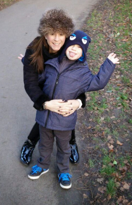 Kate McKay with her son Alex