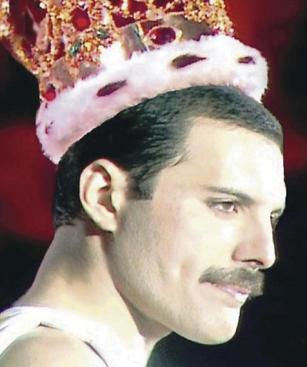 Freddie Mercury was famous for his moustache as well as his singing