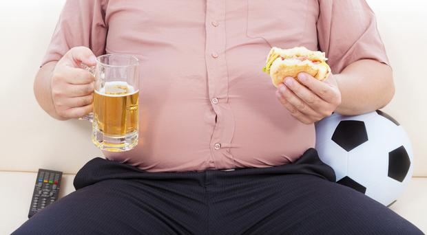 Nearly seven out of 10 men in Northern Ireland are overweight or obese, a new report has revealed