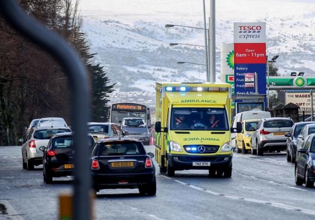 A furious row has broken out between unions and the Northern Ireland Ambulance Service (NIAS) after a Major Incident was declared, forcing paramedics to work during yesterday's strike