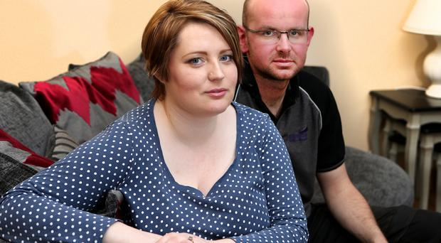 Elisha McGill and her husband Dermot in their Aghadowey home, awaiting the birth of baby Annie
