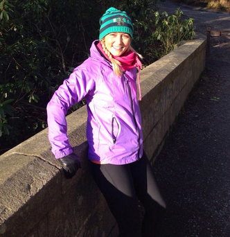 Eireann Kerr, who is in training for the London Marathon to raise cash for charity
