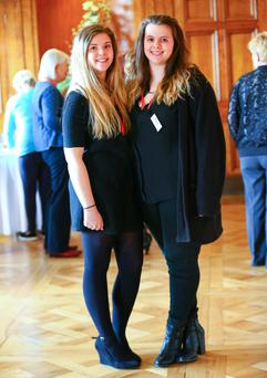 Lisa and Sara Kelly at Stormont