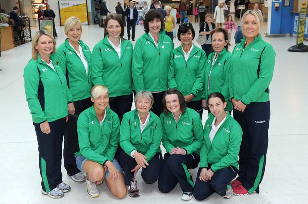 NI Tranplant Games team: (back, from left) Myra Weir; Anne Rainey; Ruth Crainey; Wendy Howe; Marie Devine; Eileen O Haire; Sharon Millen; (front, from left) Orla Smith; Fidelma Hodkinson; Ailis Corey and Catherine Glover
