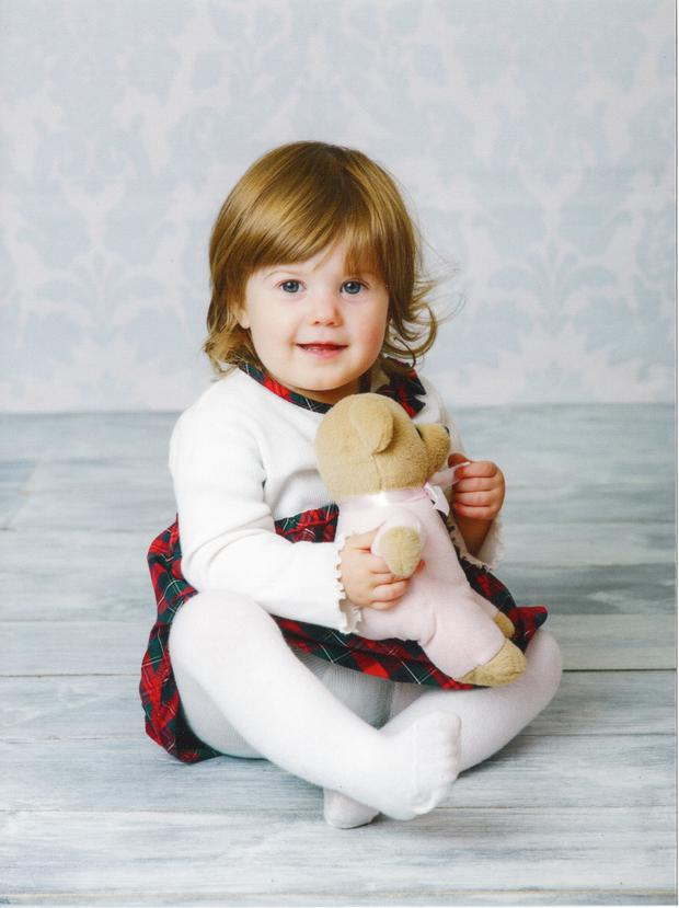 Poppy Douglas who survived meningitis