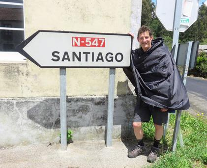 Dermot Breen on his Camino walk in northern Spain for his late wife Jacqui