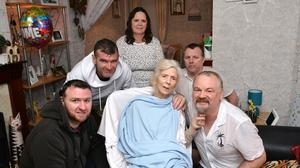 Tragic: Friends and family of Iris Hull after she returned from hospital after a long illness last year. Credit: Stephen Hamilton