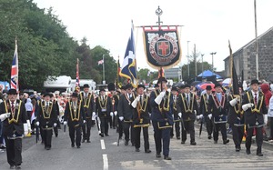 The Royal Black Institution parade in Ballygowan last year