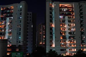 Ghaziabad: residents light candles on their balcony to observe a nine-minute vigil called by India's Prime Minister