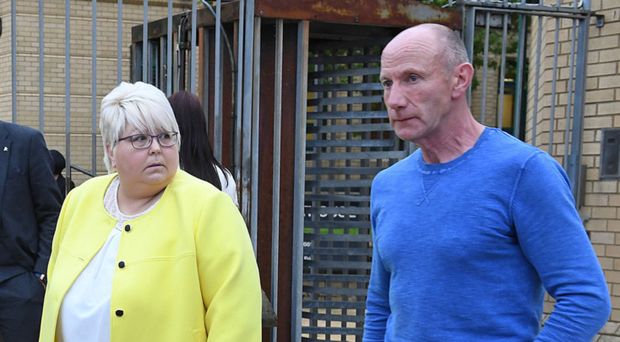 Robin Wilson's parents Patricia and Andrew outside court yesterday