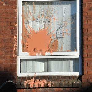 A house attacked by the UDA in greater Belfast at the weekend