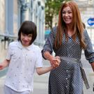 Charlotte Caldwell with her son Billy in Belfast yesterday
