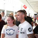 Carl Frampton mingles with fans during his public workout at CastleCourt shopping centre yesterday
