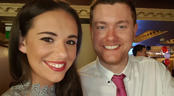 Ciara Sands with partner Karl Heaney