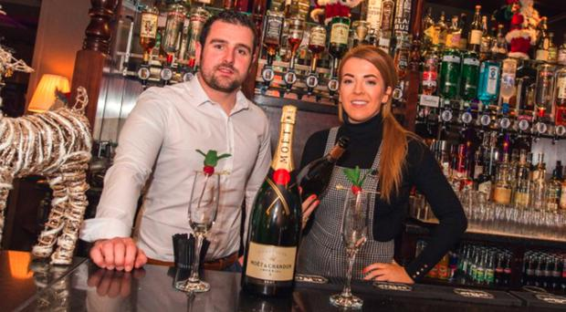Michael Dunlop with his business partner Maggie McWilliams at Shenanigans in Portstewart