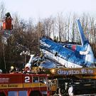 The aftermath of the Kegworth air crash in January 1989