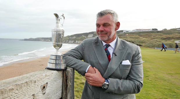 Darren Clarke at the launch for the 2019 Open at Royal Portrush