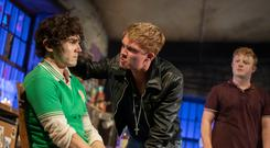 Fra Fee (left) staring as Michael Carney in The Ferryman on Broadway.