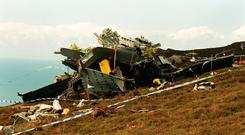 The aftermath of the 1994 Chinook crash, which killed 29 people