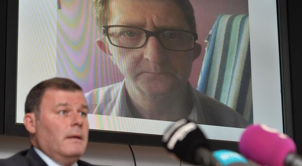Detective Chief Inspector Pete Montgomery speaks at a Press conference about the disappearance and feared murder of Pat McCormick