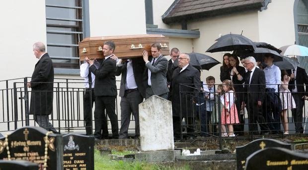 Geraldine Donnelly's funeral took place at St Patrick's Church, Crossmaglen, yesterday