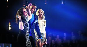 Programme Name: The Voice - TX: 11/05/2013 - Episode: n/a (No. 7) - Embargoed for publication until: 11/05/2013 - Picture Shows: +++PUBLICATION OF THIS IMAGE IS STRICTLY EMBARGOED UNTIL 2150 HOURS SATURDAY MAY 11TH 2013+++ Andrea Begley, Reggie Yates, Alice Barlow - (C) Wall to Wall - Photographer: Guy Levy
