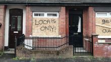 Three homes in Roslyn Street, east Belfast, came under racist attack recently, one of a significant number of hate crimes