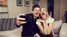 TV presenters Vernon Kay and Tess Daly help to launch Red Nose Day