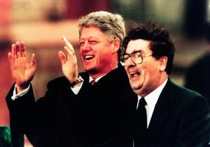 Bill Clinton and John Hume in 1995