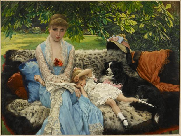 Captivating: 'Quiet', the painting of Kathleen Newton by Jacques Tissot in the garden of his house in London