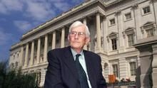Seamus Mallon outside Capitol Hill in the US (Paul Faith/PA)