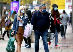 New normal: This was the year of shoppers wearing masks in Belfast city centre