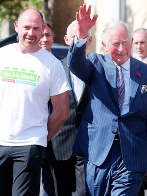 Rory with Prince Charles