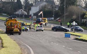 The scene of the accident just outside Ballymena