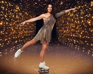 Skater girl: Dancing On Ice contestant Rebekah Vardy accidentally sliced Andy Buchanan's face with her blades while practising