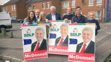 SDLP's Alasdair McDonnell and supporters