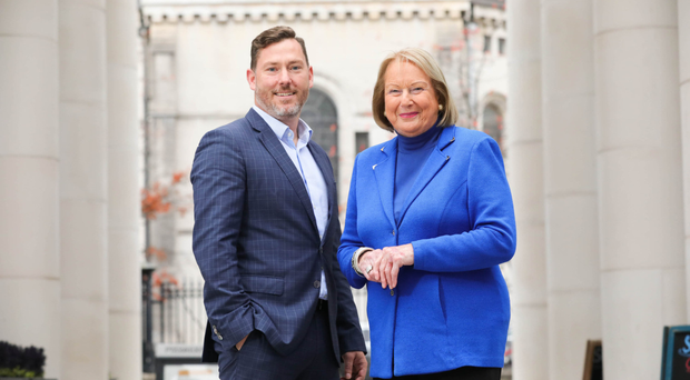 Colin Willis of Willis Insurance and Risk Management with Dianne Gibson, who has been recruited as a hospital liaison advisor