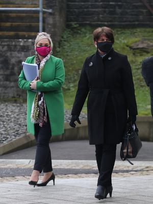 First Minister Arlene Foster and deputy First Minister Michelle O'Neill are set to kick off negotiations before the end of next month (Liam McBurney/PA)