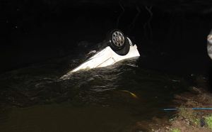 The vehicle in the water