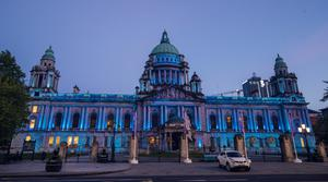 Belfast's City Hall goes blue for International Nurses Day