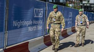 Health chiefs in Northern Ireland are taking military advice about a Nightingale facility at the Maze (Peter Byrne/PA)