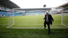 Ivan Little takes a moment to admire the new stadium